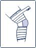 Техника тейпирования колена (поддержка боковых связок)