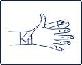 Техника тейпирования большого пальца руки (поддержка)