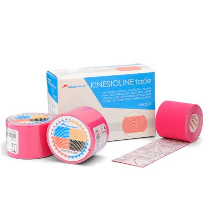KINETICLINE Tape - розовый кинезио тейп коробка