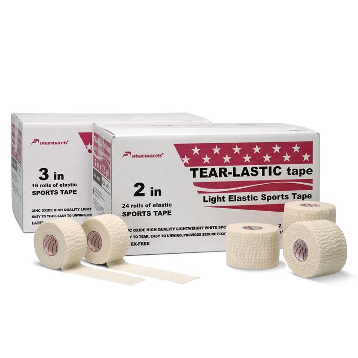 TEAR-LASTIC Tape white Pharmacels в командной упаковке