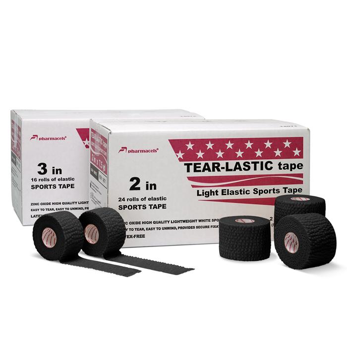 TEAR-LASTIC Tape black Pharmacels в командной упаковке
